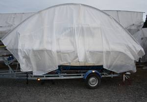 EasyTec, boat on trailer